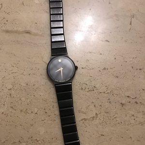 Black Movado watch